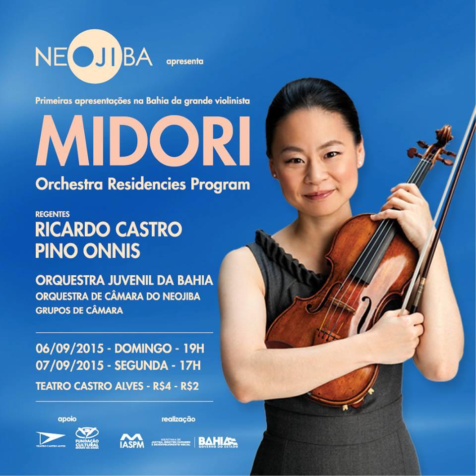 Violinista Midori e o NEOJIBA no TCA