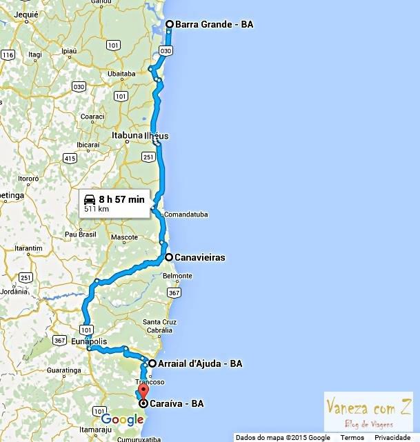 Planejamento de uma viagem pelo Sul da Bahia