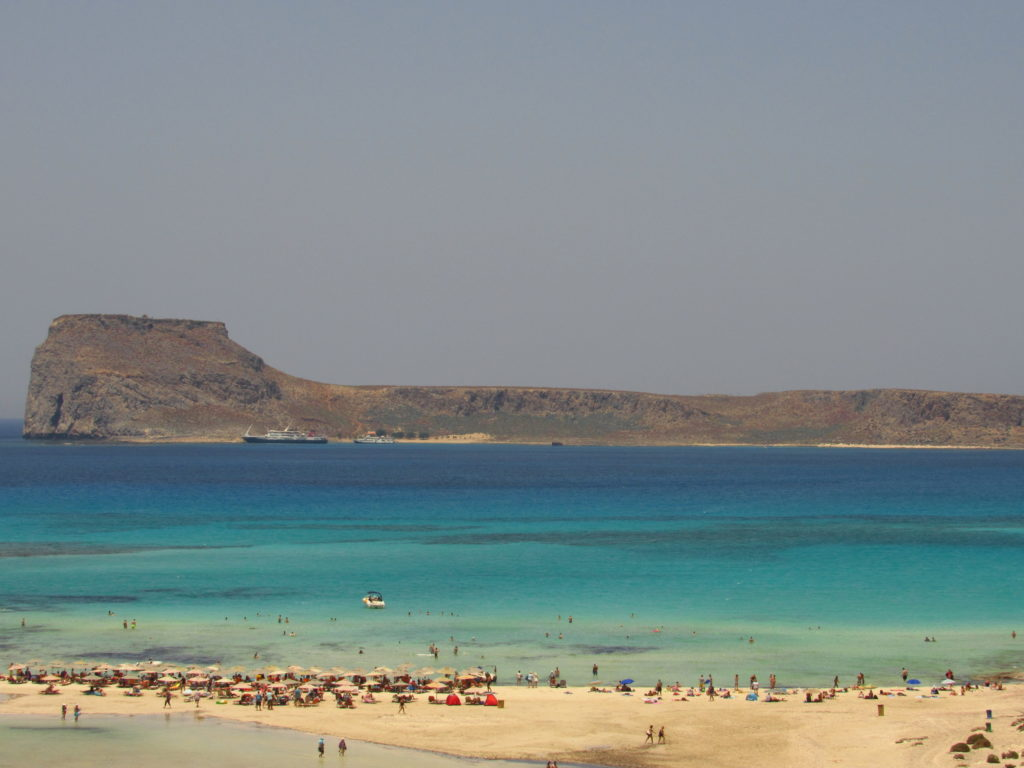 praia balos beach crete island greek
