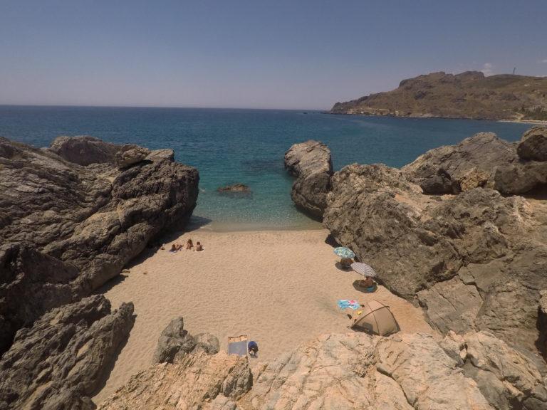 Praias de Plakiás e almoço em Chora Sfakion na Ilha de Creta (Grécia)