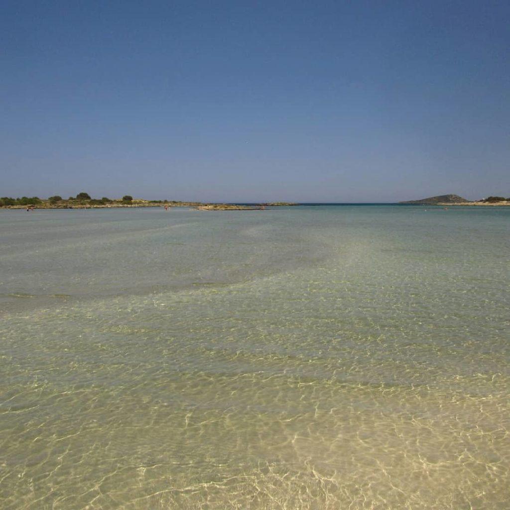 Praia de Elafonisi areia rosa ilha de creta